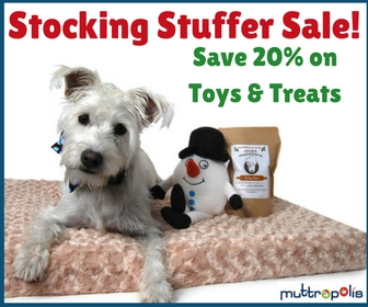 Save 20% on Toys + Treats for Our Stocking Stuffer Sale at Muttropolis