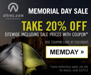 Altrec - Memorial Day Sale - Sup to 60% off + 20% off with coupon 'MEMDAY' + Free Shipping on $48. Ends 5/27/13.