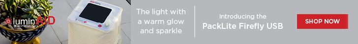 LuminAID Lab: LUM - PackLite Firefly - 728x90
