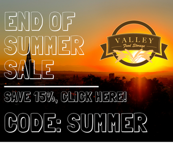 End of Summer Sale at Valley Food Storage