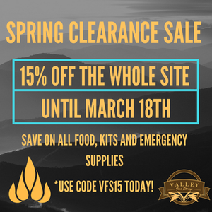 Valley Food Storage Spring Clearance Sale
