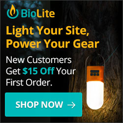BioLite - Light Your Site, Power Your Gear - 15% off first order