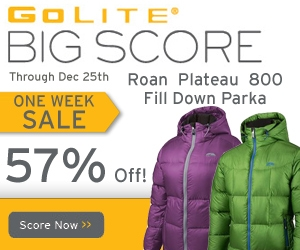 Save on GoLite Gear and Apparel