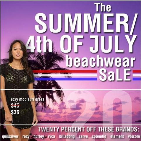 Massey's Summer Sale! 20% OFF on Beachwear