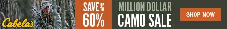 Cabelas Million Dollar Camo Sale